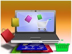 Online shopping powerpoint template by templatesvision teaching online shopping powerpoint template toneelgroepblik Images