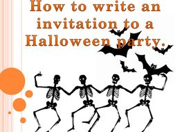 Ks1 powerpoint lesson how to write a party invitation with a ks1 powerpoint lesson how to write a party invitation with a halloween focus stopboris Gallery