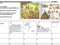 Stone Age Boy 3 weeks planning covering descriptive writing