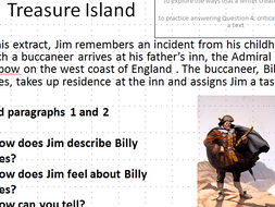 AQA English Language Paper 1 Question 4 lesson on Treasure Island