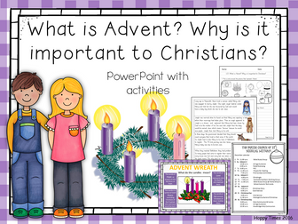 RE ADVENT Lesson PPT/ activities/ worksheet (Christmas)