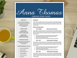 teacher resume template kindergarten curriculum creative teacher