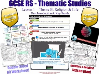 Religion & Life - Introduction & Key-Words - L1/10 [GCSE RS - Thematic Studies - Christian Views] B
