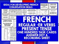 FRENCH VERBS CHALLENGE CARDS #1