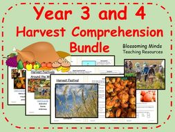 Year 3 and 4 Harvest Comprehension Bundle