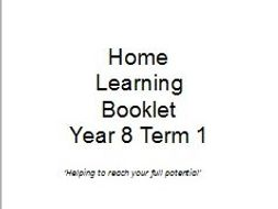 Year 8 Termly Homework booklets