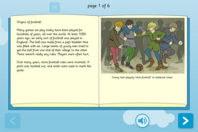 History of Football Interactive Information Book - Reading Level A - KS1