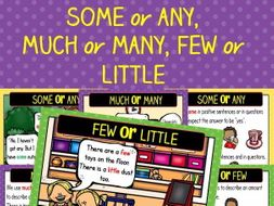 Quantifiers - Some or Any, Much or Many, Few or Little - Posters