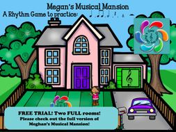 Megan's Musical Mansion-A Interactive Rhythm Game TRIAL version! FREE!