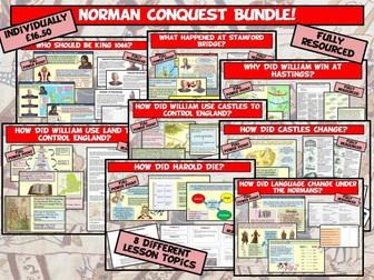 KS3 Norman Conquest 8 Lesson Bundle
