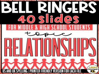 Bell Ringers Questions | Topic: Dating | Middle and High School