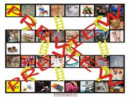 Art Forms Chutes and Ladders Board Game