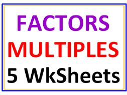Factors and Multiples Worksheets (Set of 5)