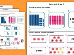 Year 2 Tens and Ones 1 Autumn Block 1 Maths Homework Extension
