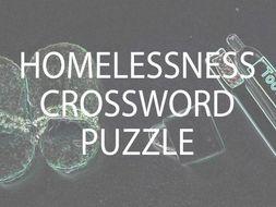 Homelessness Crossword Puzzle (US)