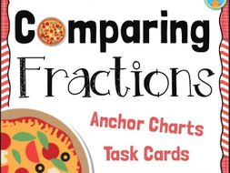 Comparing Fractions Posters, Task Cards, and Assessment