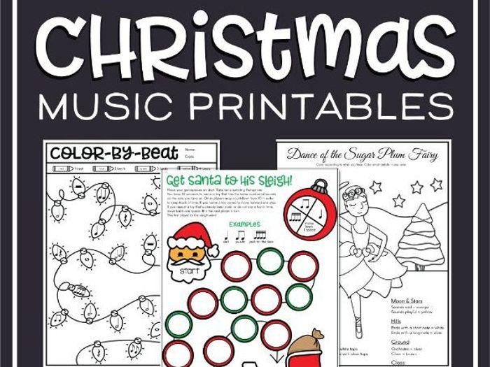 Christmas Music Theory Worksheets - 20  Free Printables