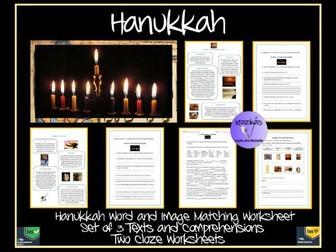 Hanukkah Texts and Worksheets