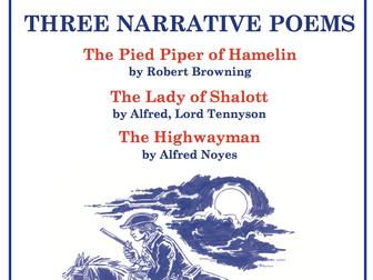 Three Narrative Poems Scheme of Work