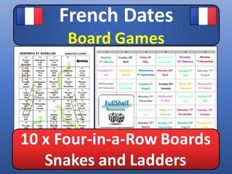 French Calendar / Date Games