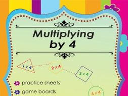 Multiplying by 4 - Multiplication Math Games and Lesson Plans