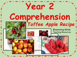 Year 2 comprehension - Toffee apple recipe (autumn)