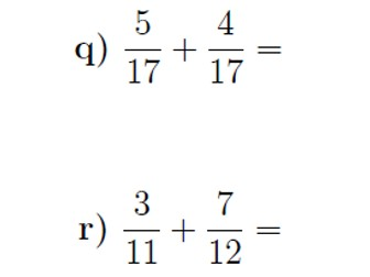 Adding fractions worksheet (with solutions)