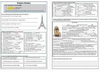 present perfect tense worksheet pdf
