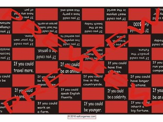 Conditional Sentences Type 2 Checker Board Game