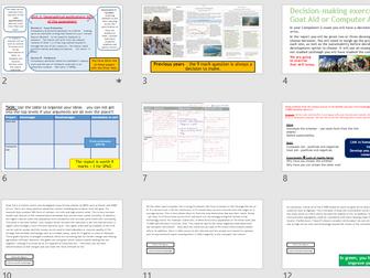 AQA GCSE CHANGING ECONOMIC WORLD: L8 - Goat Aid Decision Making Assessment (Lessons + Resources).