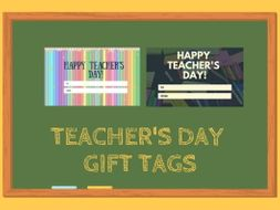 Teacher's Day Gift Tags