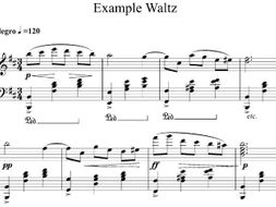 GCSE Music Composing - Waltz or Minuet for Piano
