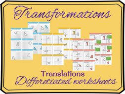Transformations- Translations differentiated worksheet