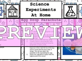 Science Home Experiments - Egg Drop Parachute Challenge