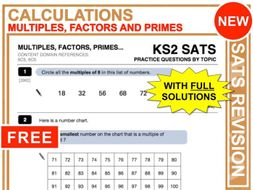 KS2 Maths (Multiples, Factors + Primes)