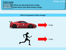 kinetic energy kinetic energy calculations motion by