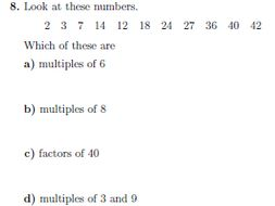Factors, Multiples and Primes worksheet (with detailed solutions) by ...