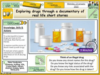 Drugs Education - Real Life Stories PSHE