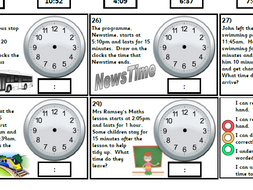 Year 3 & 4 Time Pack - telling the time, time facts, 24 hour clock   Supplements White Rose