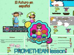 El futuro con verbos regulares en español ACTIVINSPIRE/PROMETHEAN