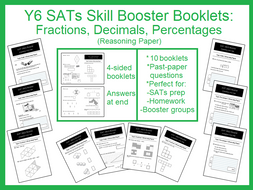 SAT Revision Mini-Test Booklets: Reasoning Set (Fractions, Decimals, Percentages and Ratio)