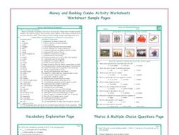 Money and Banking Combo Activity Worksheets