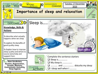 Sleep Quality and Relaxation