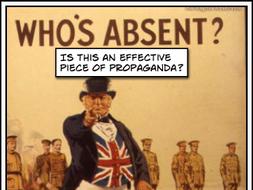 First World War Propaganda Posters Analysed