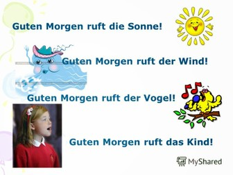 Guten Morgen Song By Surayo Teaching Resources