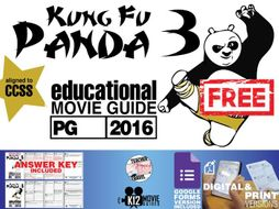 Kung Fu Panda 3 Movie Guide | Questions | Worksheet | Google Form (PG - 2016)