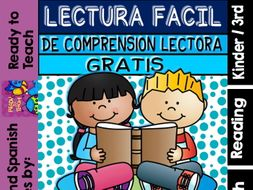 Easy Reading for Reading Comprehension in Spanish - Free Set