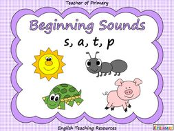 Beginning Sounds - s, a, t, p