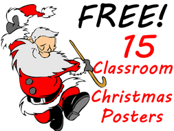 15 free christmas posters to brighten up any classroom share them