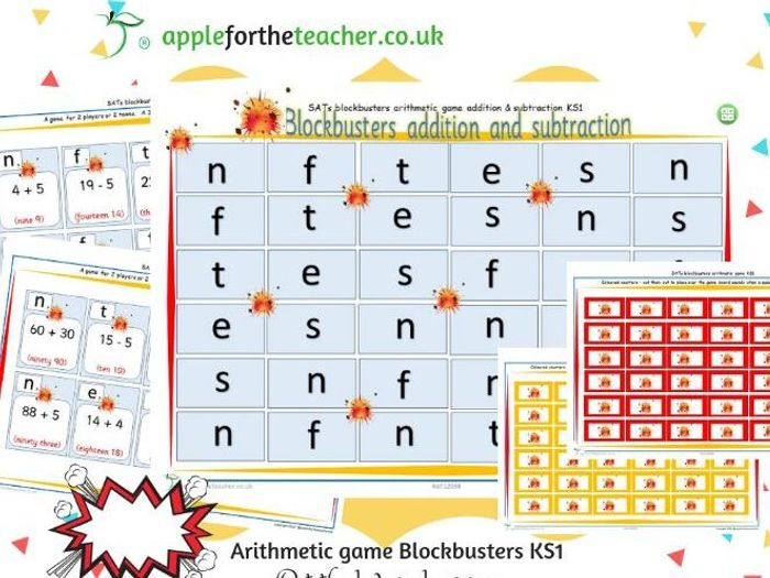 photograph relating to Math Games Printable called Psychological Maths Blockbusters printable Maths Video games